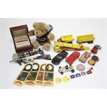 Nine various scale models by Corgi & Lesney, all un-boxed; four William Grants soldier figures,
