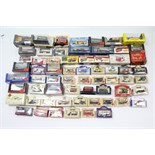 Approximately fifty various scale models by Corgi, Vanguards, Lledo, & others, boxed & un-boxed.