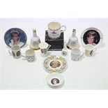 Various commemorative items commemorating the birth of Prince William in 1982, & the death of