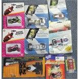 Forty-eight various scale model cars, motorbikes, aeroplanes, etc., boxed & un-boxed.