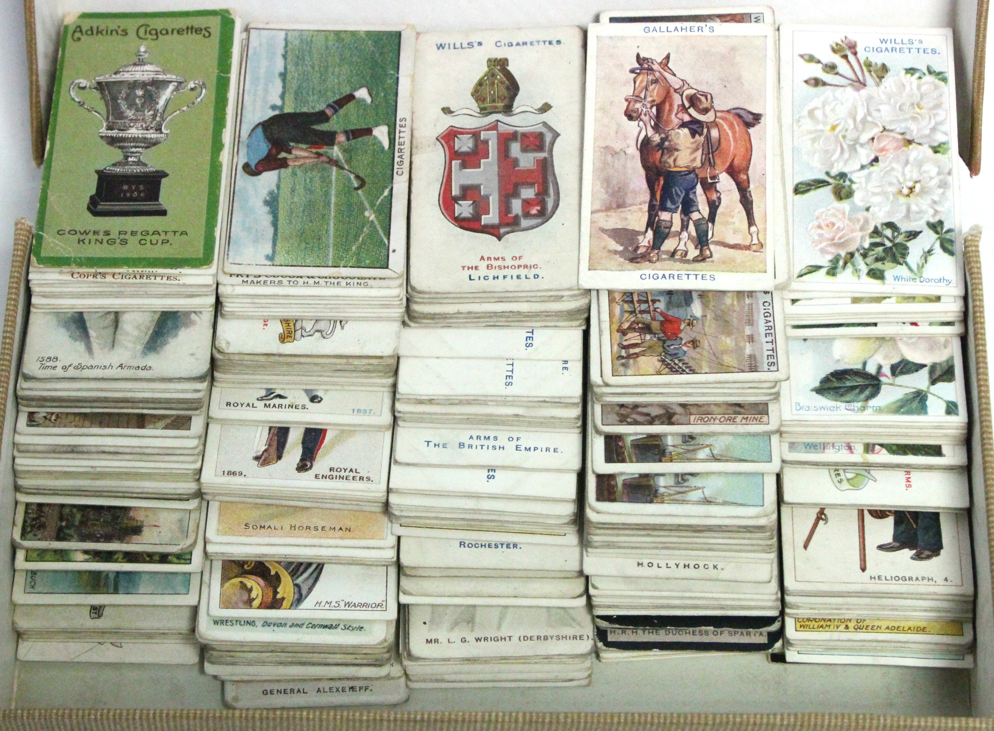 Lot 139 - Approximately three hundred & seventy various cigarette cards by John Player, W. D. & H. O. Wills,