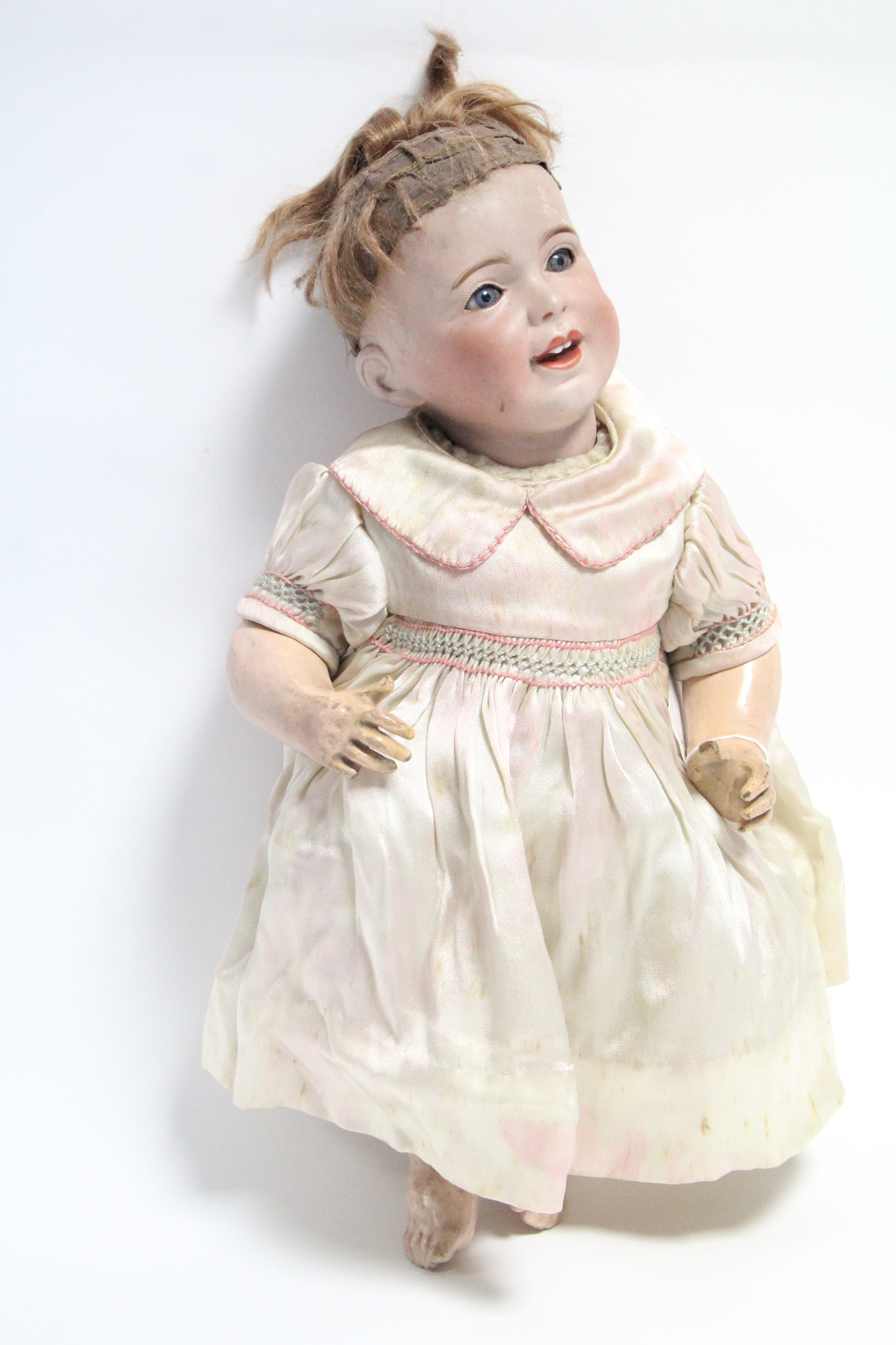 Lot 284 - A Jumeau bisque head girl doll (SFBJ 230 Paris 8), with blue sleeping eyes, open mouth, & with