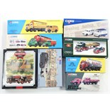 Various Corgi scale model vehicles, all boxed; & various model collector's magazines.