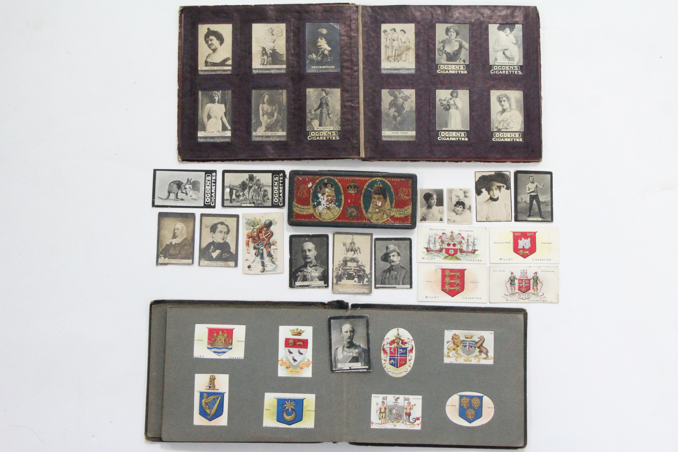 Lot 137 - Approximately one hundred & sixty various cigarette cards by Ogdens & W. D. & H. O. Wills, circa