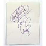 A Bill Wyman autograph on paper.