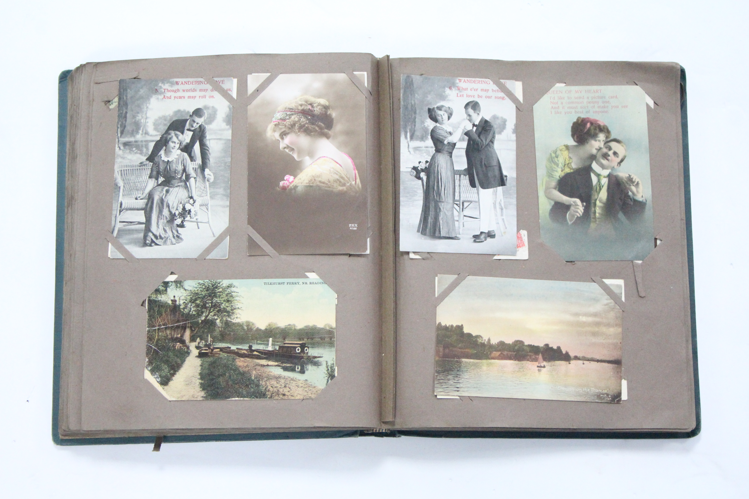Lot 115 - AN ALBUM OF APPROXIMATELY THREE HUNDRED POSTCARDS, EARLY-MID 20th CENTURY – MILITARIA, GREETINGS,