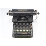 "A vintage Smith Premier ""No. 10"" typewriter, with cover."