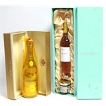 "A bottle of Louis Roederer ""Crystal Champagne"" (750ml); & a bottle of Fortnum & Mason ""Sauternes"", &"