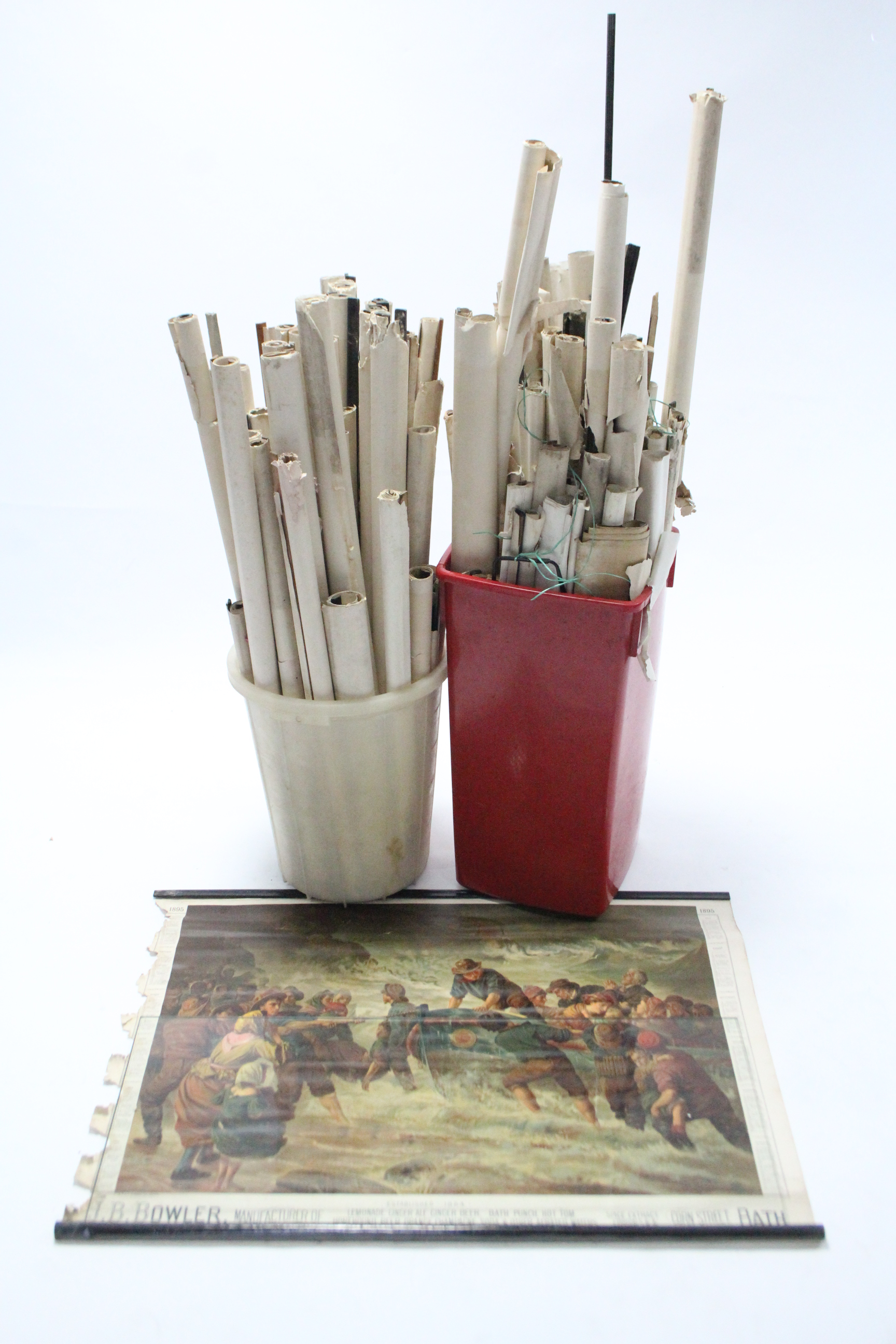Lot 55 - Approximately sixty various advertising ware calendars (part w.a.f.), circa late 19th/mid 20th