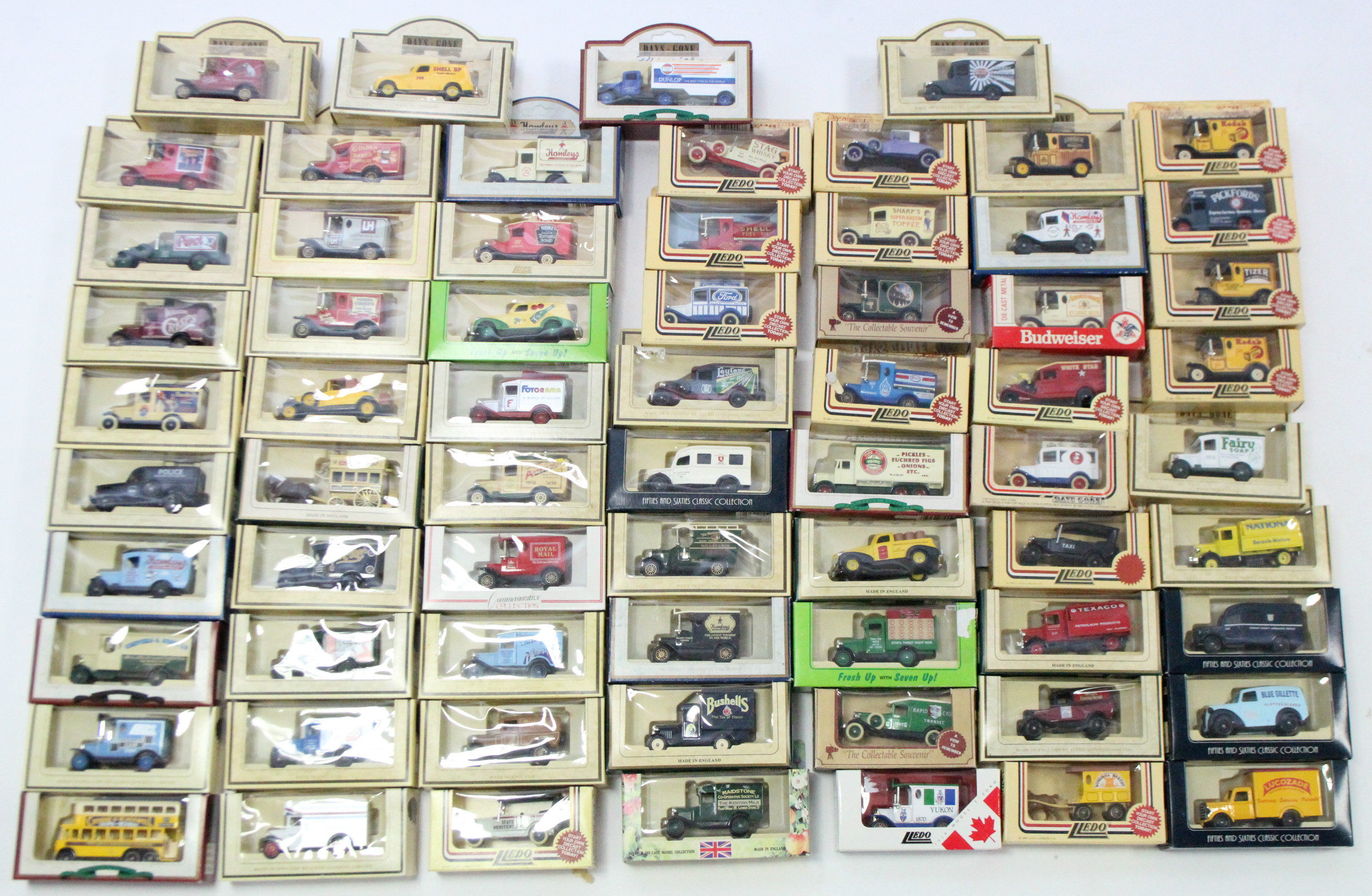 Lot 262 - Approximately forty various Lledo scale model vehicles, all boxed.