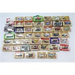 Approximately forty various Lledo scale model vehicles, all boxed.