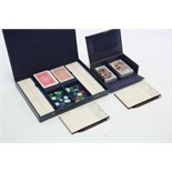 Two bridge card games by Alf Cooke & De La Rue, each in case, circa 1930's.