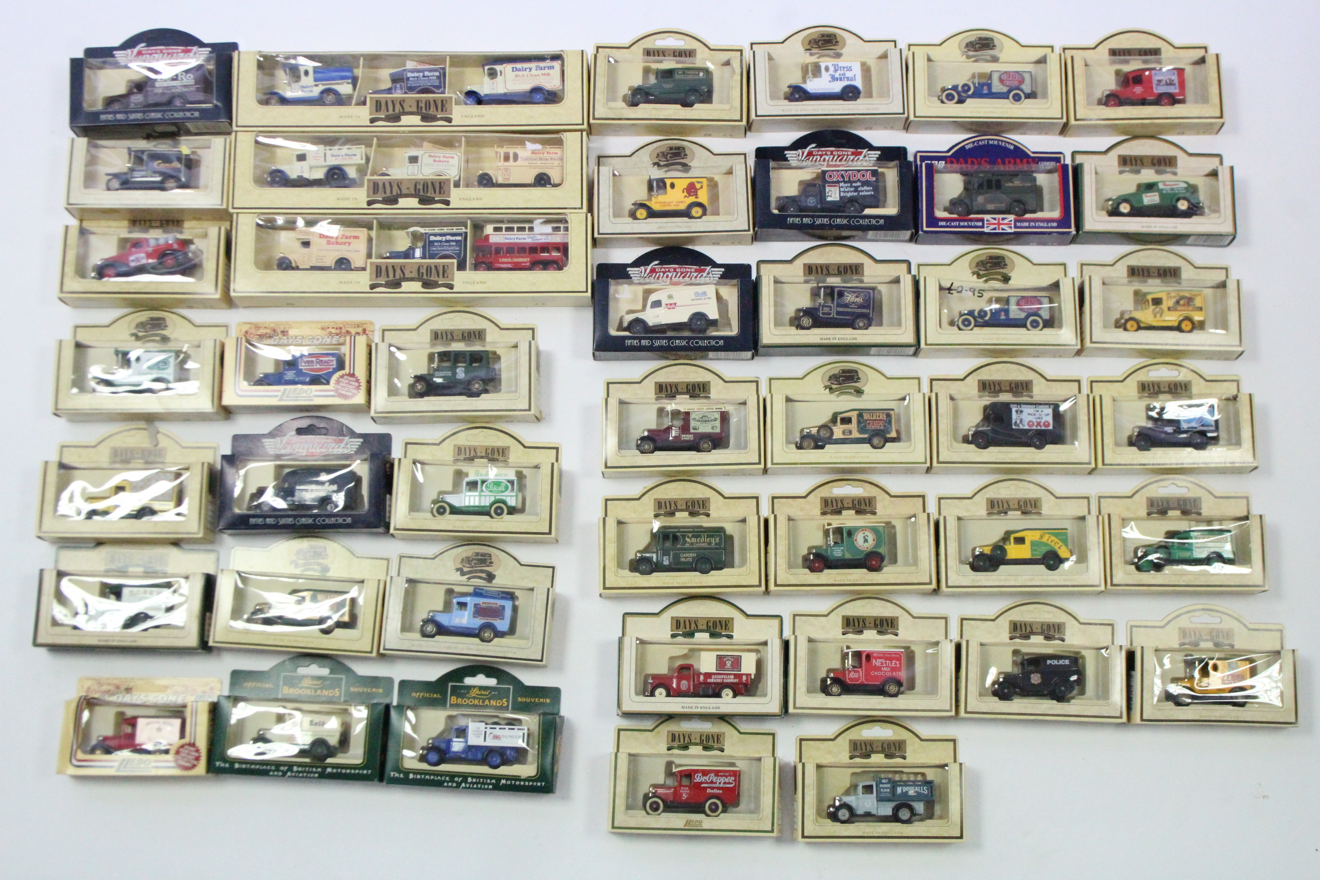 Lot 260 - Approximately forty various Lledo scale model vehicles, all boxed.