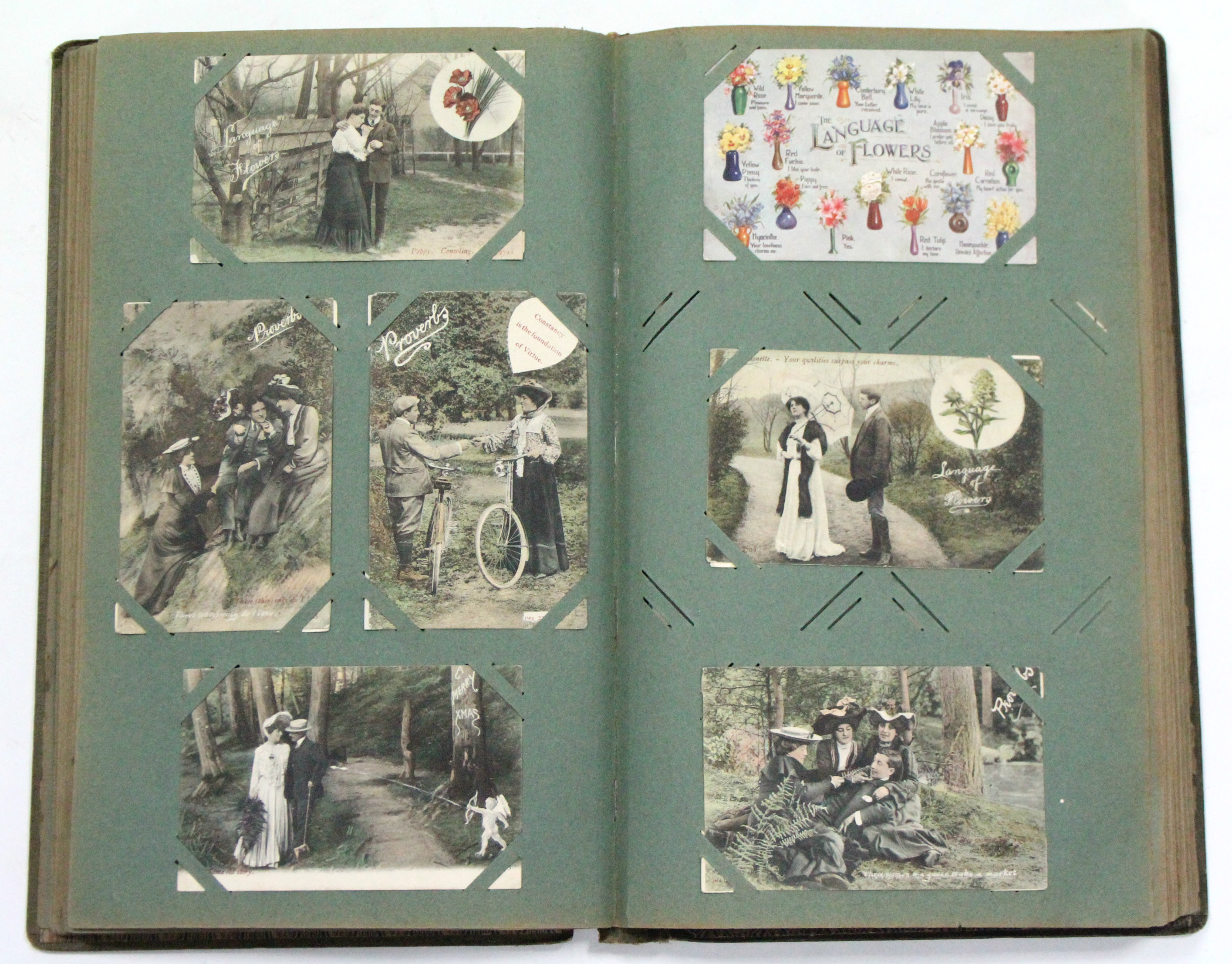 Lot 123 - An album of approximately two hundred & fifty postcards, early-mid 20th century – shipping,