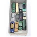 "Twelve various Dinky scale models including an ""Observation Coach"", a ""Hudson Sedan"", a ""Vauxhall"