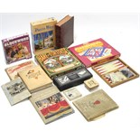 """A 1970's Intellect Games board game """"Hare and Tortoise""""; together with various other games & books."""