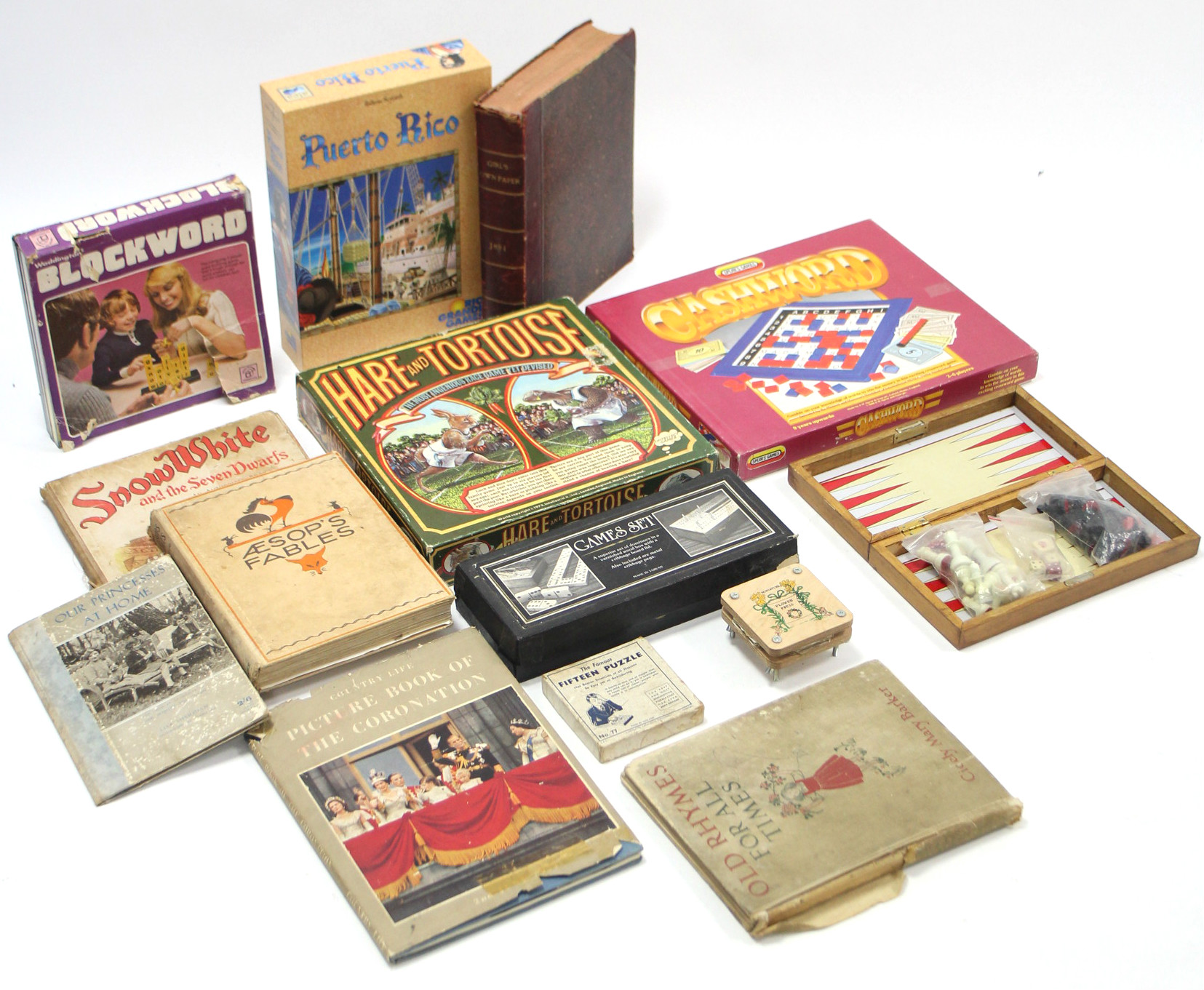 """Lot 295 - A 1970's Intellect Games board game """"Hare and Tortoise""""; together with various other games & books."""