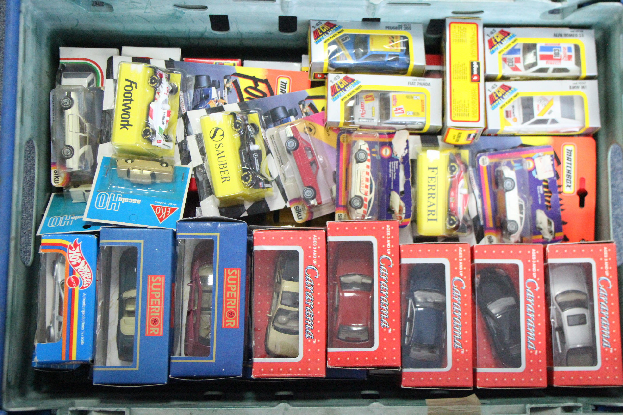 Lot 254 - Forty-five various scale models by Corgi, Burago, etc., all boxed.