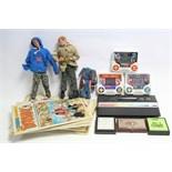 "Two 1964 Palitoy Action Man figures; various ditto accessories; various comics; an Atari ""2600"""