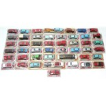 Forty-six Majorette scale model vehicles, all boxed.
