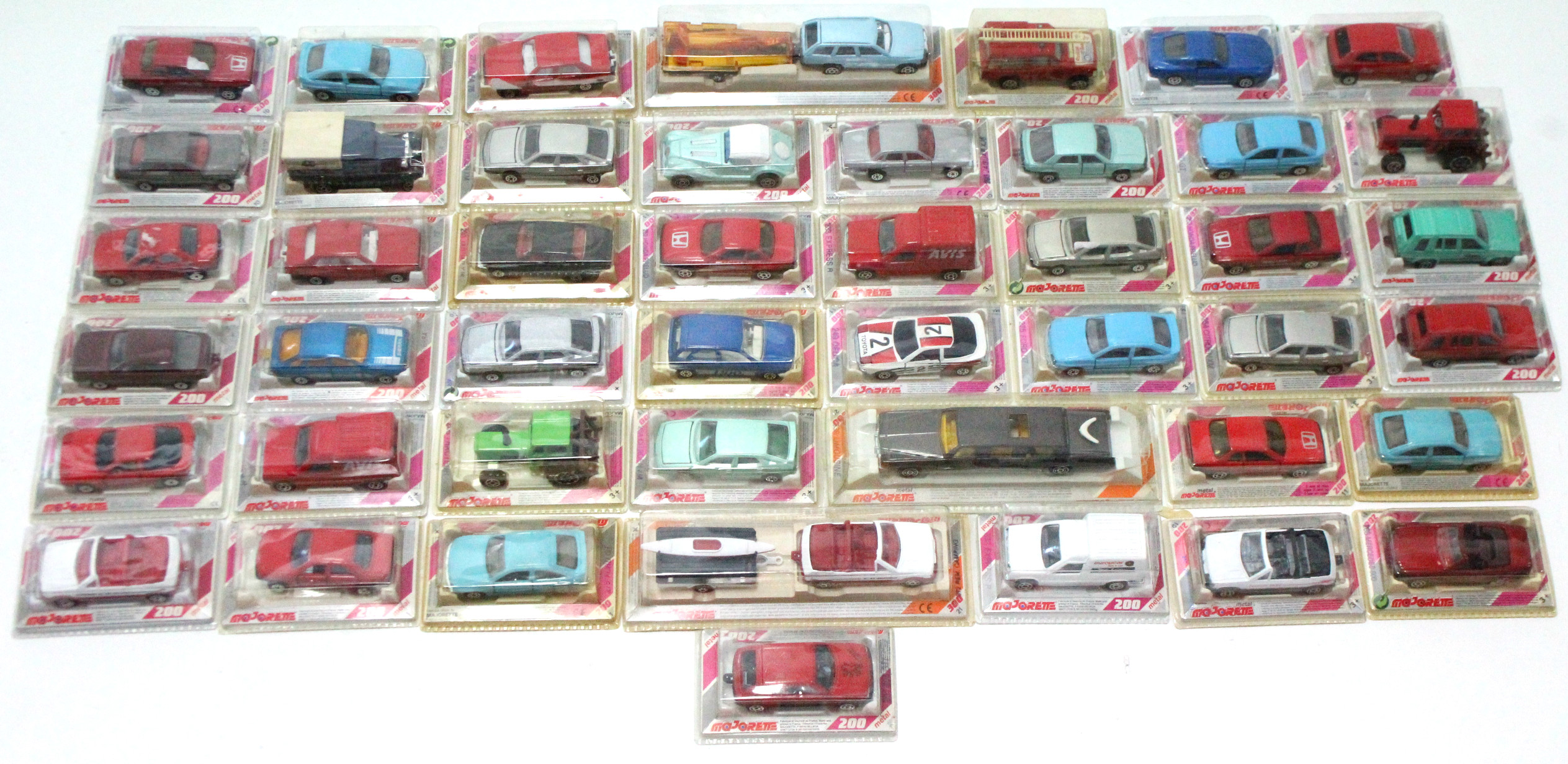 Lot 263 - Forty-six Majorette scale model vehicles, all boxed.