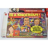 """A Strawberry Fayre Denys Fisher """"It's A Knockout"""" board game; an Arrow """"Kojak"""" board game; a"""