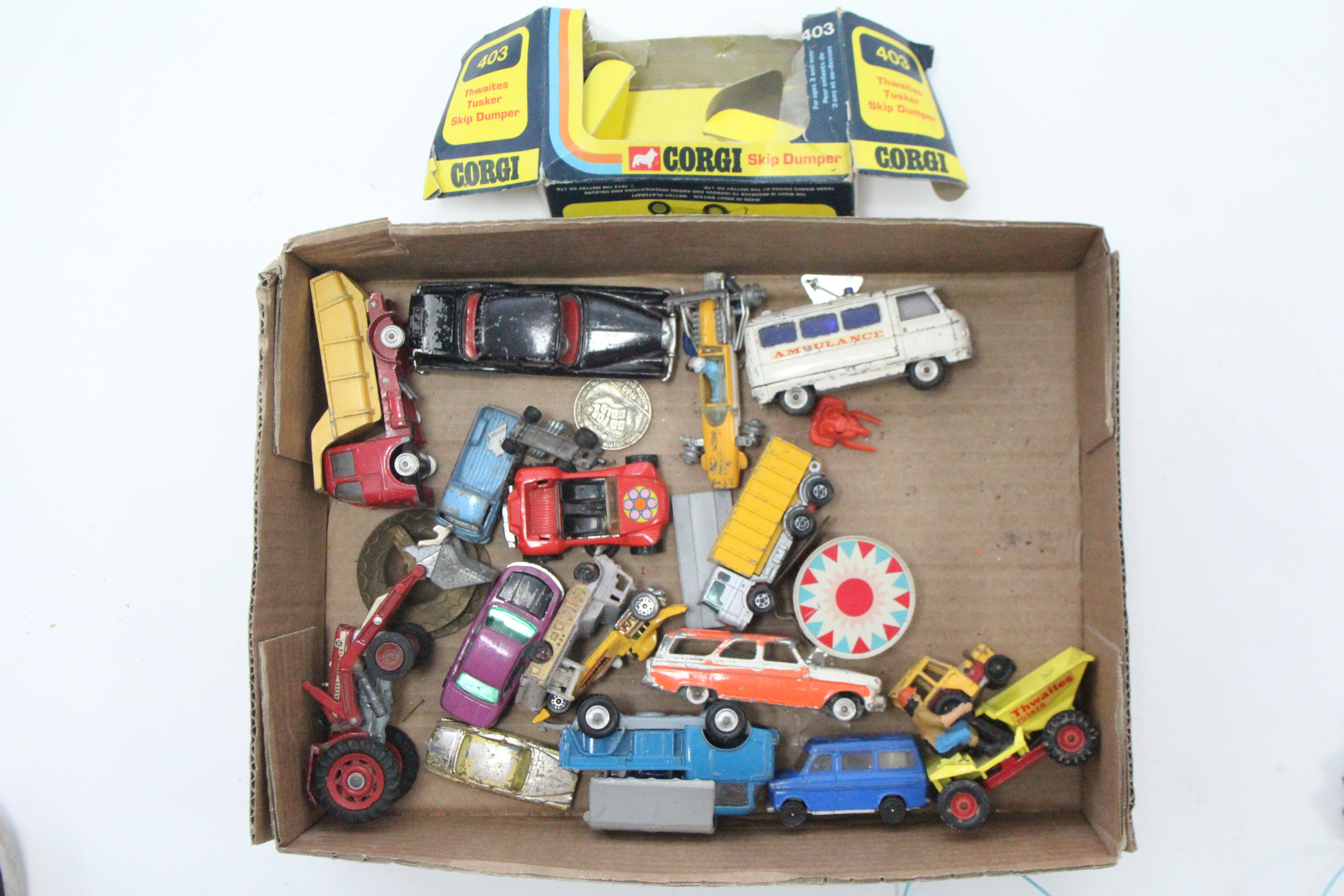 "Lot 252 - A Corgi Comics die-cast ""Noddy's Car""; together with approximately twenty various other scale"