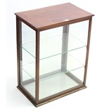 A late 19th/early 20th century mahogany shop's counter-top display cabinet, fitted two plate-glass