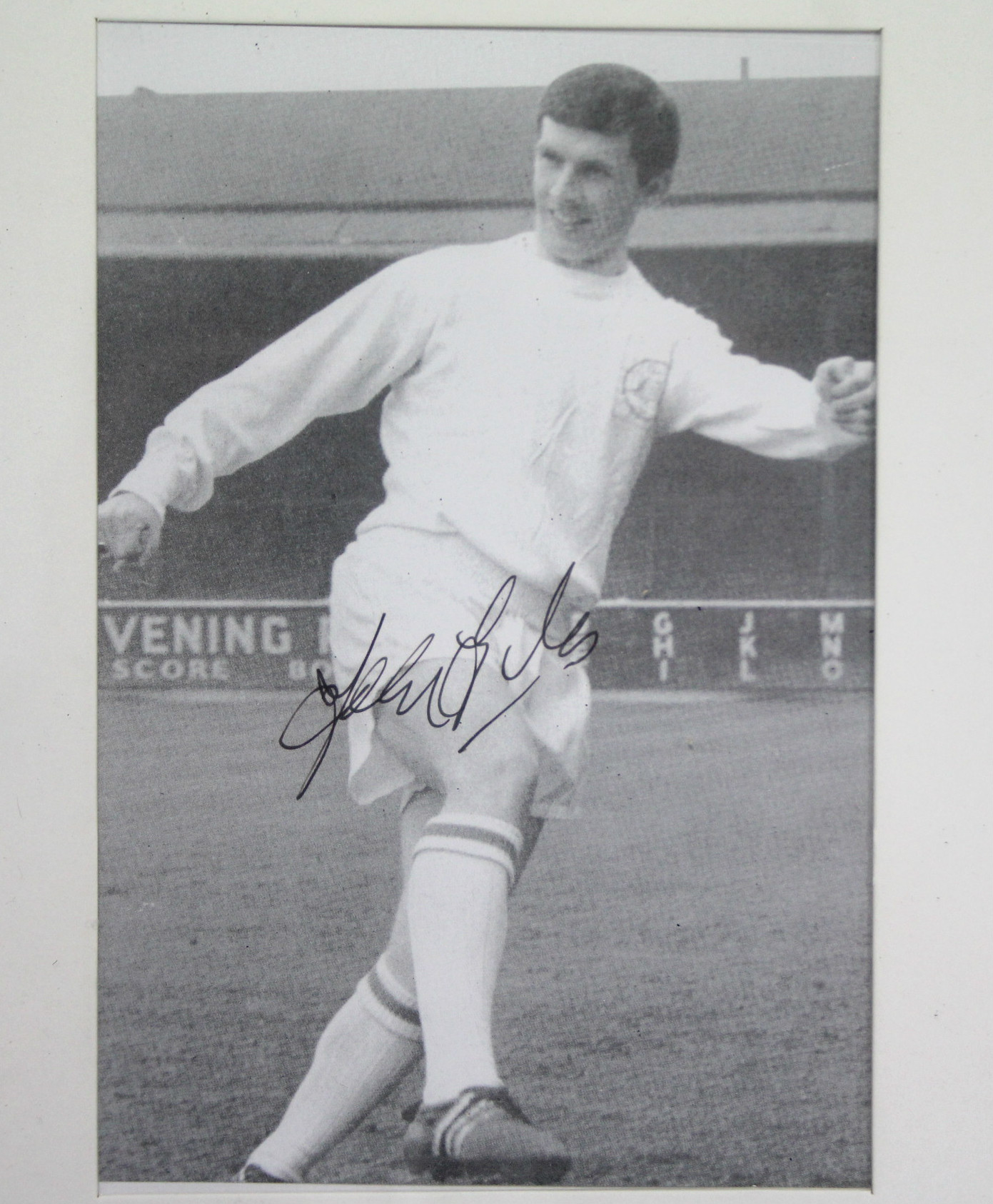 """Lot 150 - Five 1960's """"LEEDS GLORY YEARS"""" Autographed Footballer photographic postcards includes the"""
