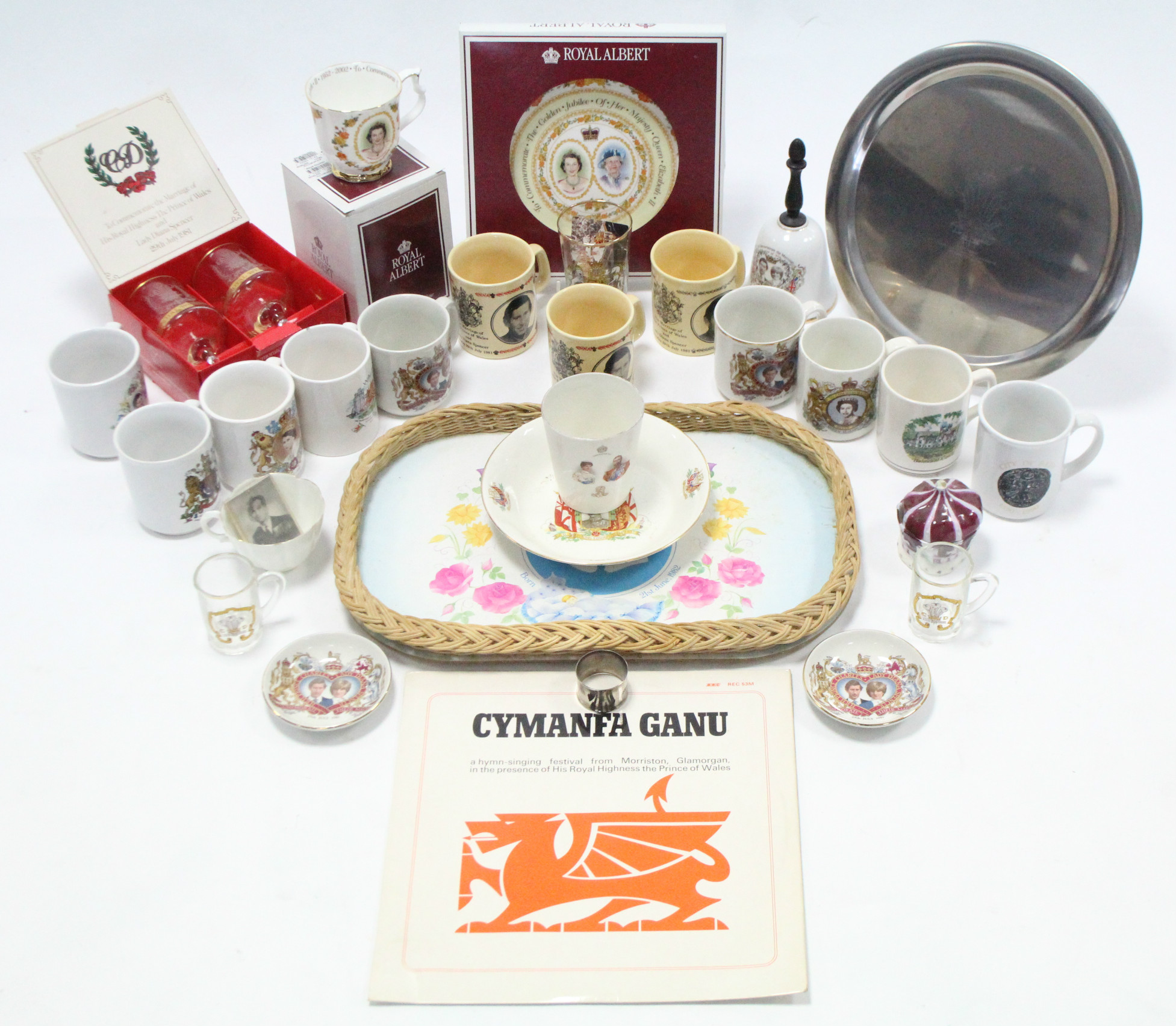 Lot 40 - Various items of Royal commemorative ware.