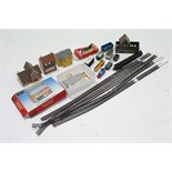 Various model railway items, boxed & un-boxed; & various Scalextric accessories, un-boxed.