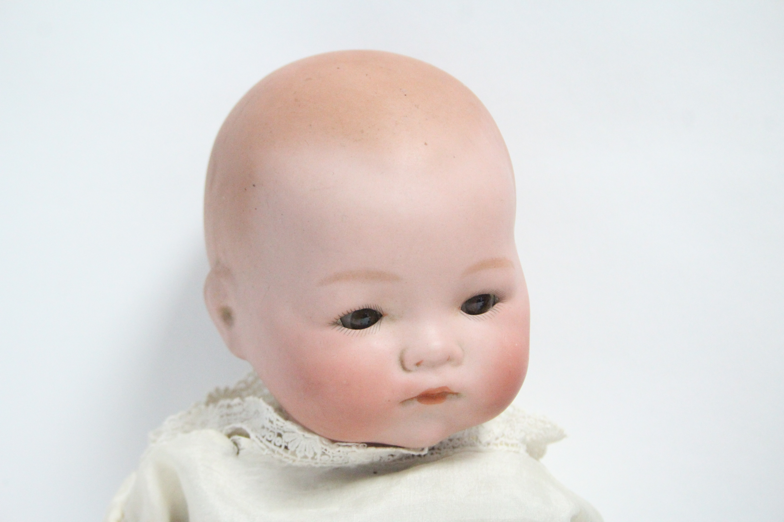 Lot 328 - An Armand Marseille bisque head doll, No. 341./3, with brown sleeping eyes, moveable limbs & stuffed