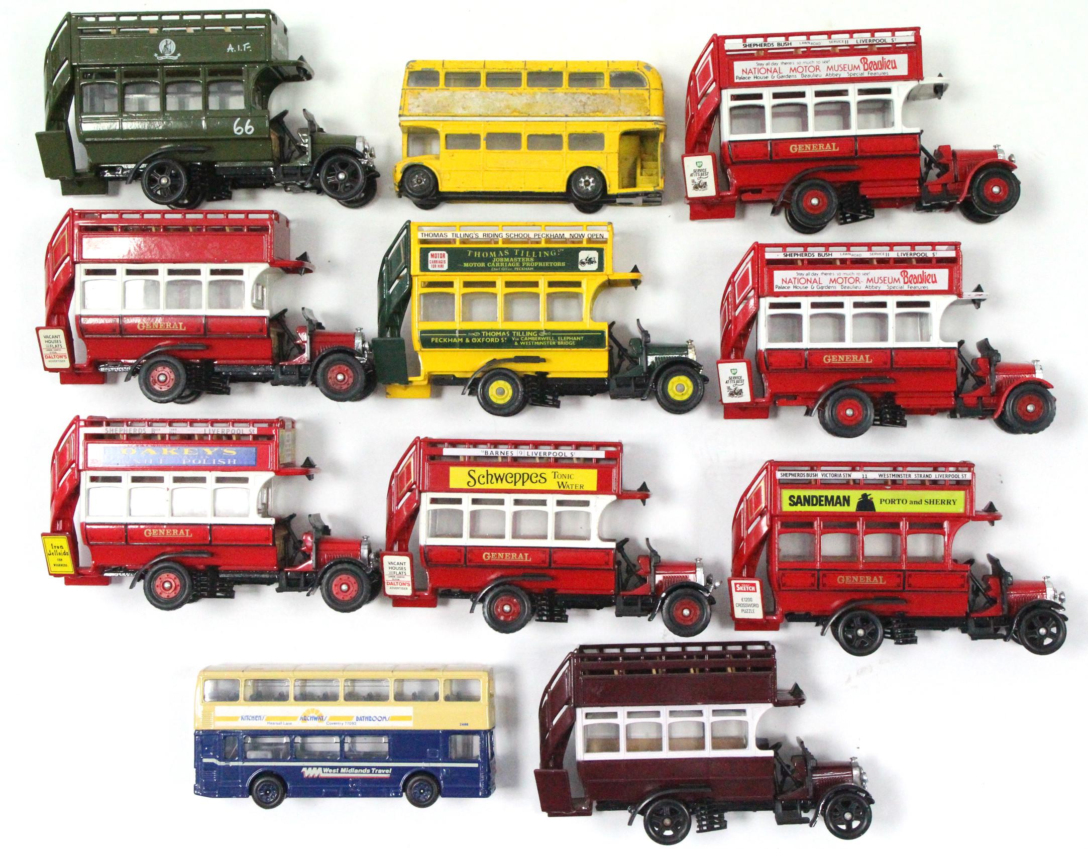 Lot 265 - Eleven Corgi scale model 'buses, all un-boxed.