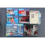 Four Fischer Technik construction kits, boxed; & various ditto items, un-boxed.