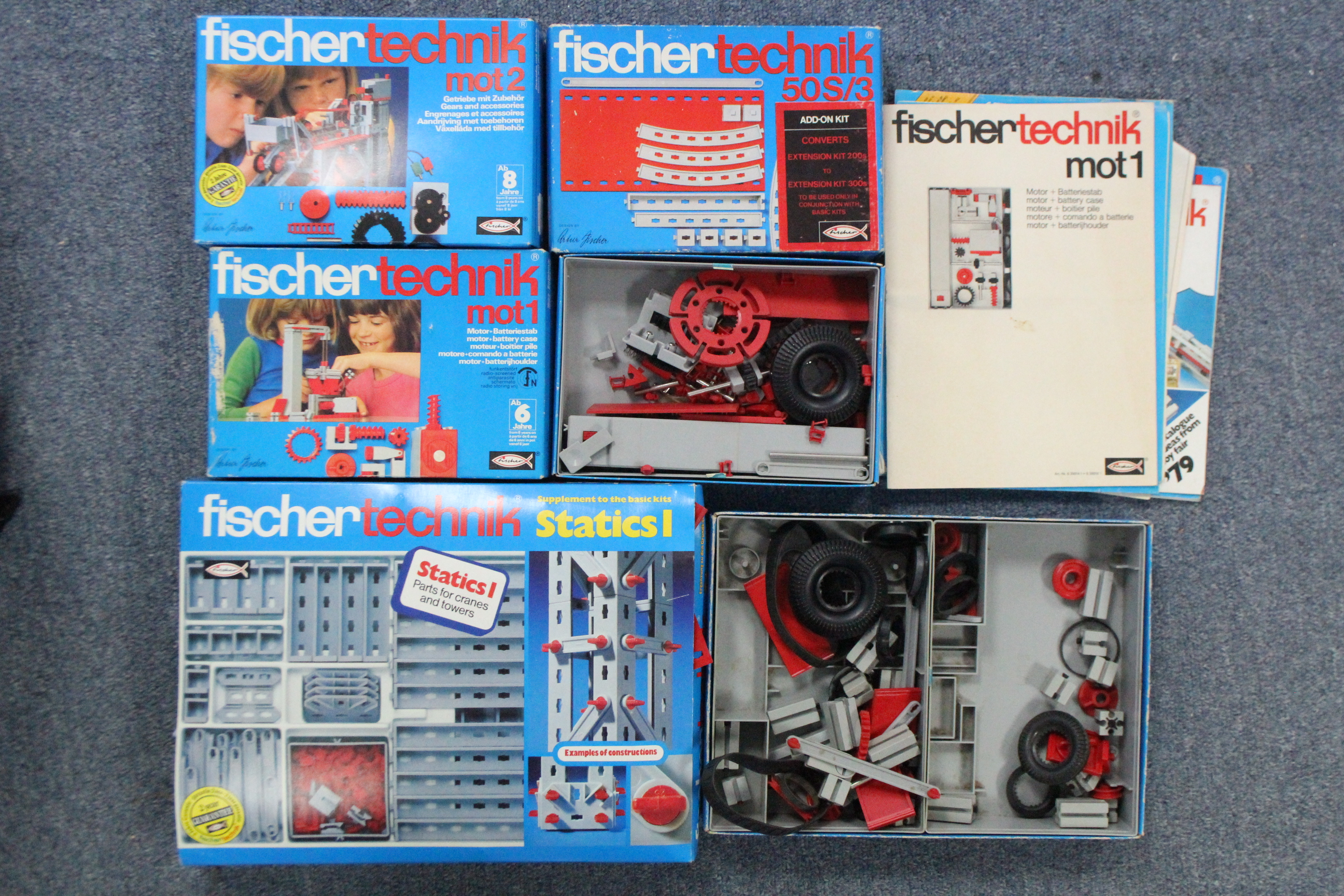 Lot 288 - Four Fischer Technik construction kits, boxed; & various ditto items, un-boxed.