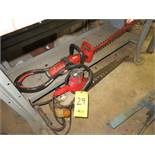 (3) ELECTRIC HEDGE TRIMMERS AND ROLL OF WEED CONTROL FABRIC