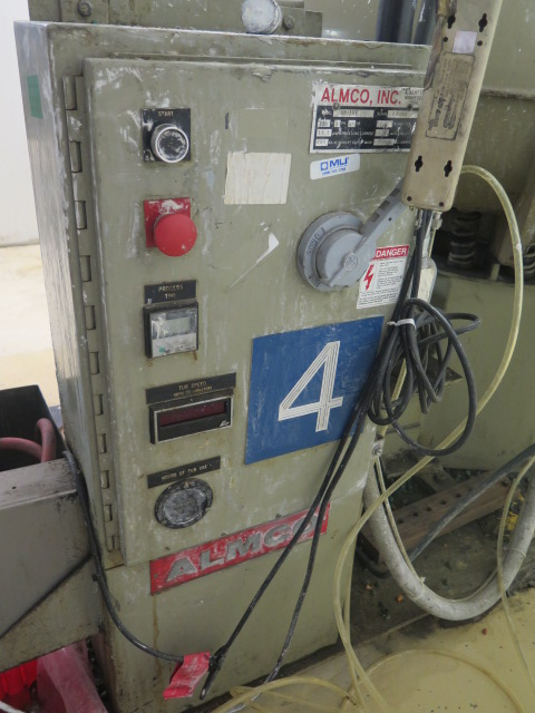 """Lot 98 - Almco mdl. OR-10V 52"""" Variable Speed Media Tumbler s/n 089903 w/ Speed Controls, Media Tanks and"""