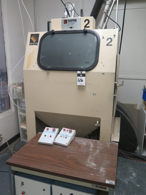 Lot 126 - Empire Pro-Finish mdl. PF-2636 Dry Blast Cabinet s/n M-09532 w/ (2) Rotary Tables, (2) Fixed Blast