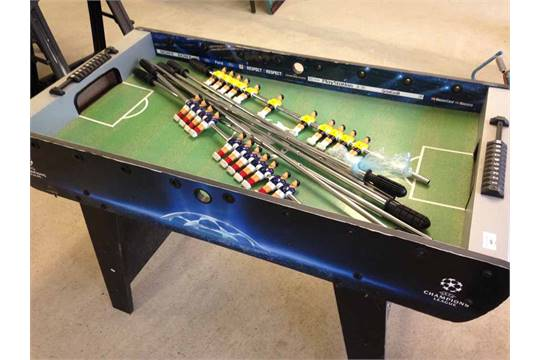 A Champions League table football game