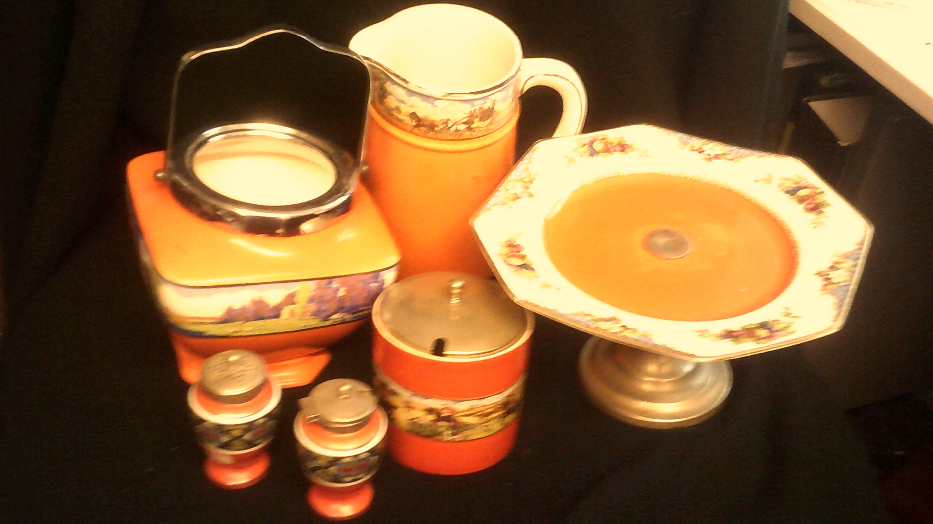 Lot 28 - Mixed Lot-Kitchen ware, by Hammond + Turner includes cake stands salt + Pepper etc, all in blue