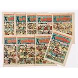 Dandy (1943) 247-255. Aug 35 - Dec 11 unbroken run. Propaganda war issues including Special 250th