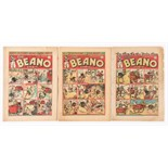 Beano (1942-43) 174, 175, 201. Propaganda war issues. 'Don't make paper aeroplanes with your old
