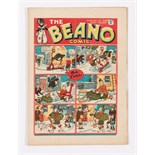 Beano No 23 (1938). Editor's Christmas wishes. Bright covers, cream/light tan pages. Two ½ ins tears