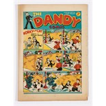 Dandy No 34 (1938). With Pg. 5 ad for 'Great new fun paper, The Beano comic on sale July 26th'.