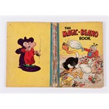 Magic-Beano Book (1944). Big Eggo and Koko pillow fight. Bright boards with well worn loose spine (