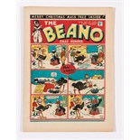 Beano No 21 (1938). First Christmas issue. First Pansy Potter by Hugh McNeill and first appearance