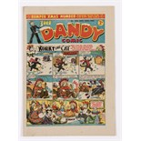 Dandy 256 (1943) Bumper Xmas Number. Propaganda war issue. Desperate Dan says 'When with hats and