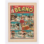 Beano No 22 (1938). Bright covers, cream/light tan pages with some small RH edge overhang tears.