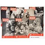 Picture Post (1938-39) Vol. 1: 3-6, 12; Vol. 2: 4-6, 13; Vol. 3: 1, 3, 4, 7. Good covers, rusty