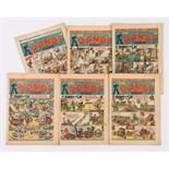 Dandy (1941-42) 195, 196, 198, 201, 206, 224. Propaganda war issues [vg/vg+] (6)
